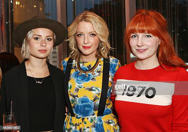 Nina Nesbitt Lauren Laverne and Alice Levine attend the launch of W London Leicester Square's Britpop Vinyl Collection curated by DJ Lauren Laverne...
