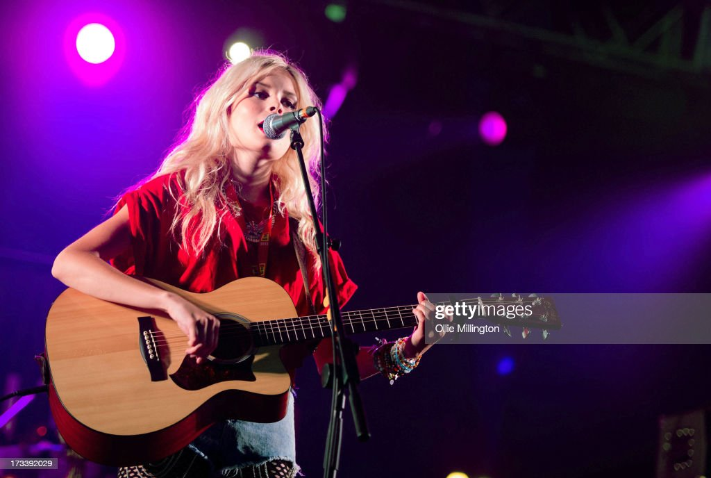 Nina Nesbitt performs at Day 2 of the T in the Park festival at Balado on July 13, 2013 in Kinross, Scotland.