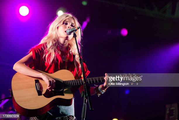 Nina Nesbitt performs at Day 2 of the T in the Park festival at Balado on July 13 2013 in Kinross Scotland
