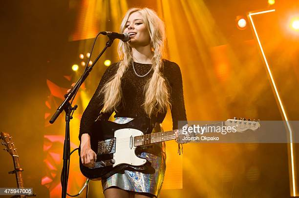 Nina Nesbitt performs at NCS YES live at Brixton Academy on March 1 2014 in London England