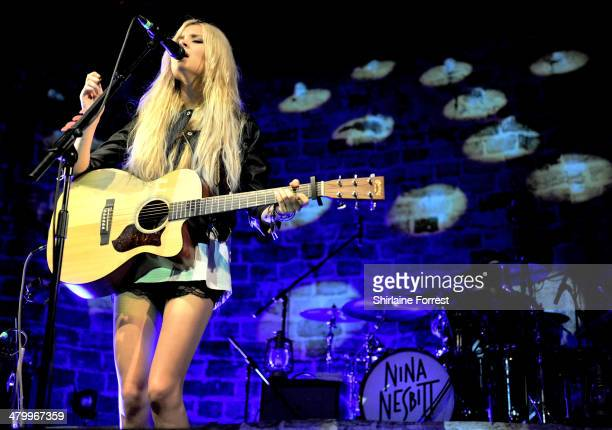 Nina Nesbitt performs at The Ritz Manchester on March 21 2014 in Manchester England