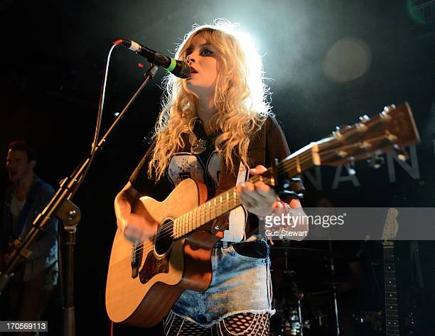 Nina Nesbitt performs on stage at Camden Barfly on June 13 2013 in London England