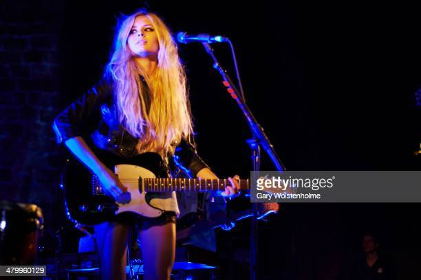 Nina Nesbitt performs on stage at Manchester Academy on March 21 2014 in Manchester United Kingdom