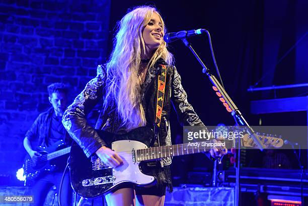 Nina Nesbitt performs on stage at Shepherds Bush Empire on March 25 2014 in London United Kingdom