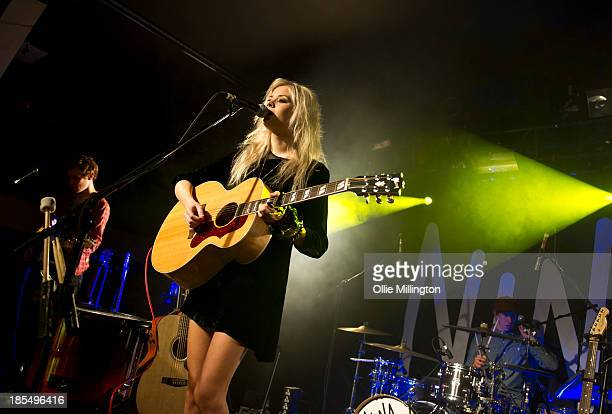 Nina Nesbitt performs on stage during a date of the Cats Carbonara uk tour at The Institute on October 21 2013 in Birmingham England