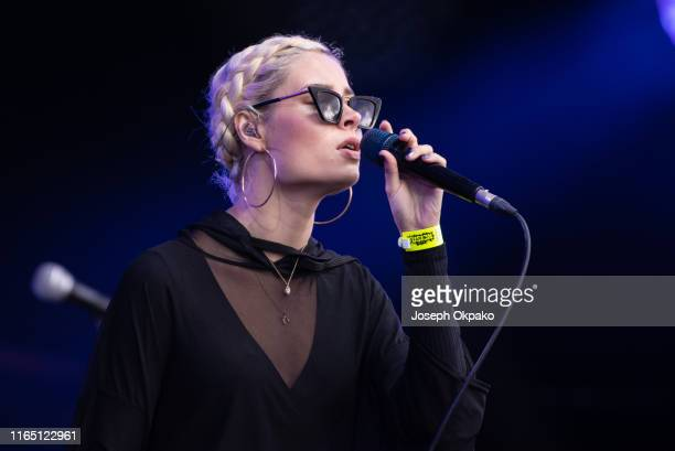 Nina Nesbitt performs on stage during Day 2 of Fusion Festival 2019 on August 30 2019 in Liverpool England