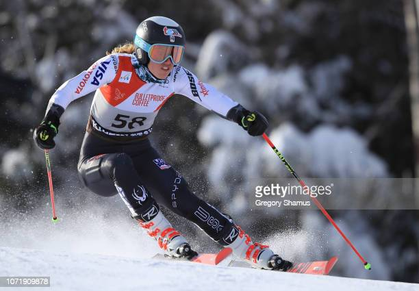 Nina OBrien competes in the first run of the Women's Giant Slalom at the Audi FIS Ski World Cup on November 24 2018 in Killington Vermont