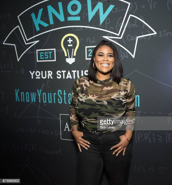 Nina Parker arrived as AHF presents the Know Your Status tour on April 26 2017 in Houston Texas