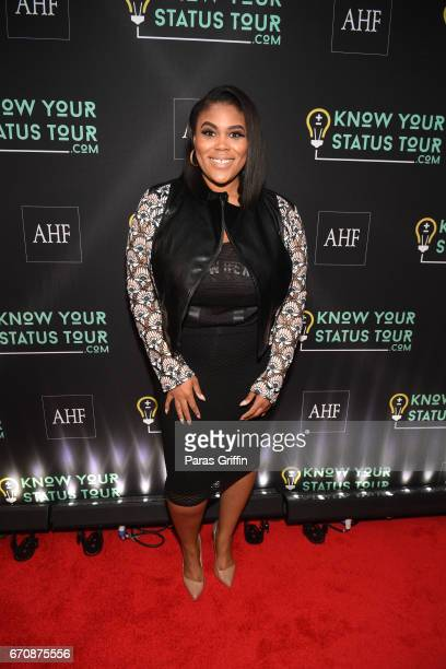 Nina Parker attends AHF Presents The Know Your Status Tour Atlanta at Clark Atlanta Univeristy on April 20 2017 in Atlanta Georgia