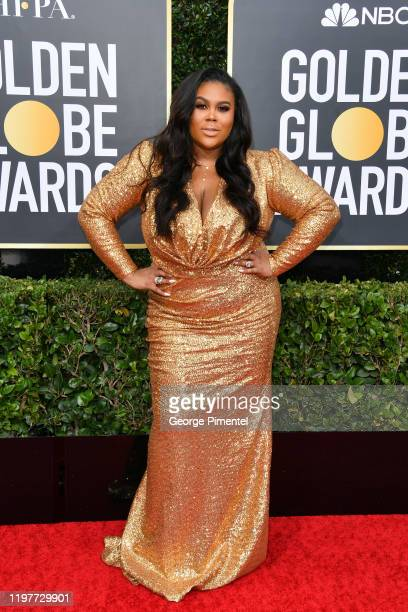 Nina Parker attends the 77th Annual Golden Globe Awards at The Beverly Hilton Hotel on January 05 2020 in Beverly Hills California