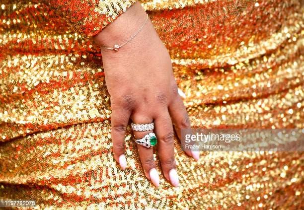 Nina Parker jewelry detail attends the 77th Annual Golden Globe Awards at The Beverly Hilton Hotel on January 05 2020 in Beverly Hills California
