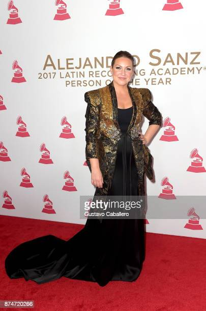 Nina Pastori attends the 2017 Person of the Year Gala honoring Alejandro Sanz at the Mandalay Bay Convention Center on November 15, 2017 in Las...