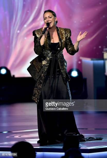 Nina Pastori performs onstage during the 2017 Person of the Year Gala honoring Alejandro Sanz at the Mandalay Bay Convention Center on November 15...