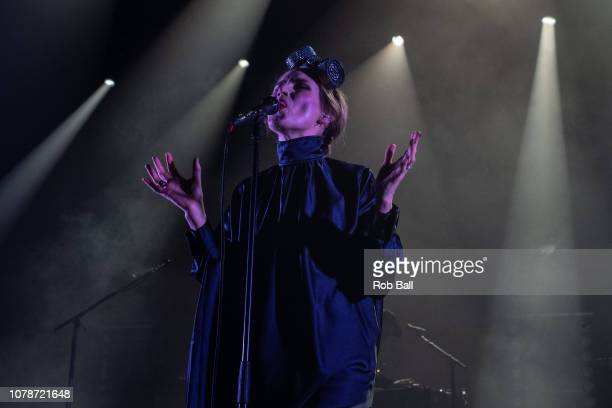 Nina Persson from the Cardigans performs at Eventim Apollo Hammersmith on December 07 2018 in London England