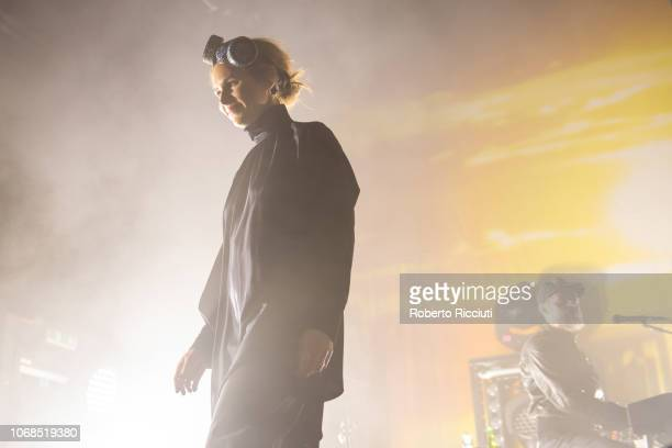 Nina Persson of The Cardigans performs on stage at O2 Academy Glasgow on December 4, 2018 in Glasgow, Scotland.