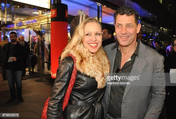 Nina Proll and Gregor Bloeb pose during the 'Anna Fucking Molnar' Premiere at Gartenbau Kino on November 22 2017 in Vienna Austria