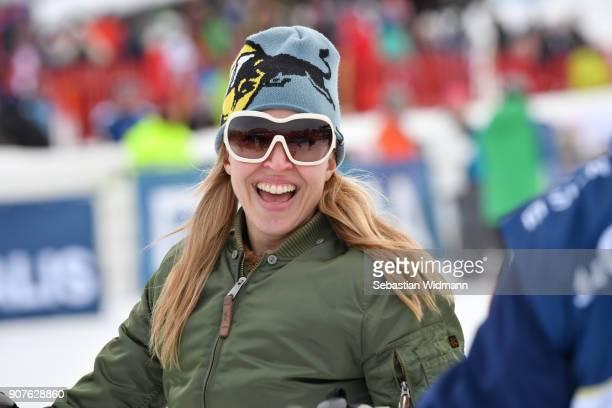 Nina Proll smiles during the KitzCharityTrophy on January 20 2018 in Kitzbuehel Austria