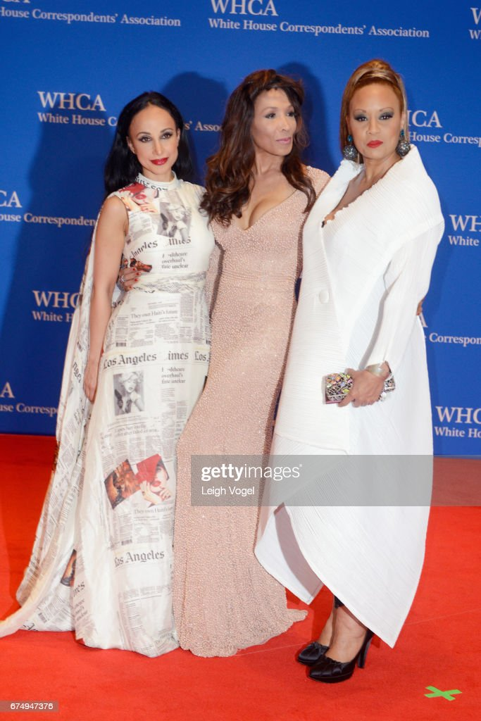 Nina Radcliff, Angela McGlowan and Santita Jackson attend the 2017 White House Correspondents' Association Dinner at Washington Hilton on April 29, 2017 in Washington, DC.