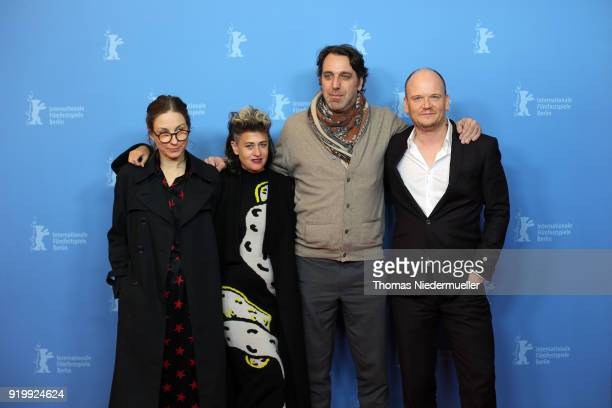 Nina Rhode Peaches Chilly Gonzales and Philipp Jedicke attend the 'Shut Up and Play the Piano' premiere during the 68th Berlinale International Film...