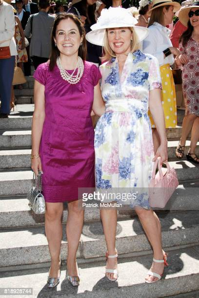 Nina Richter and Amy Hoadley attend CENTRAL PARK CONSERVANCY's 28th Annual Fredrick Law Olmsted Awards Luncheon at Conservatory Garden on May 5th...