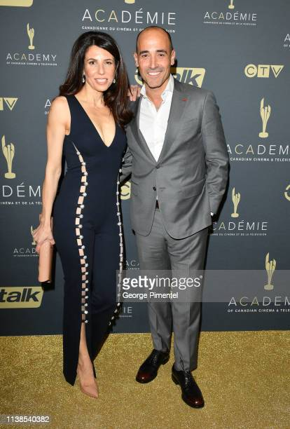Nina Rocco and David Rocco attend the Canadian Screen Awards The CTV Gala Honouring Excellence In NonFiction Programming held at Heritage Court...