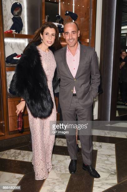 Nina Rocco and David Rocco attend the Moncler cocktail in celebration of the boutique grand opening on October 25 2017 in Toronto Canada