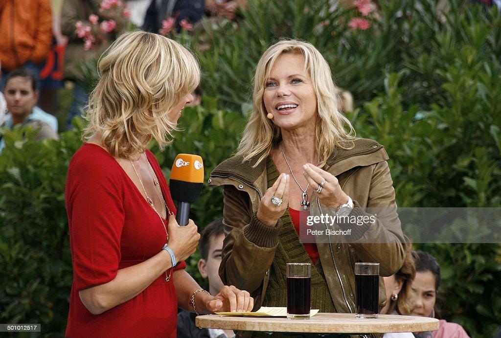 Nina Ruge Andrea Kiwi Kiewel Zdf Show Fernsehgarten Mainz
