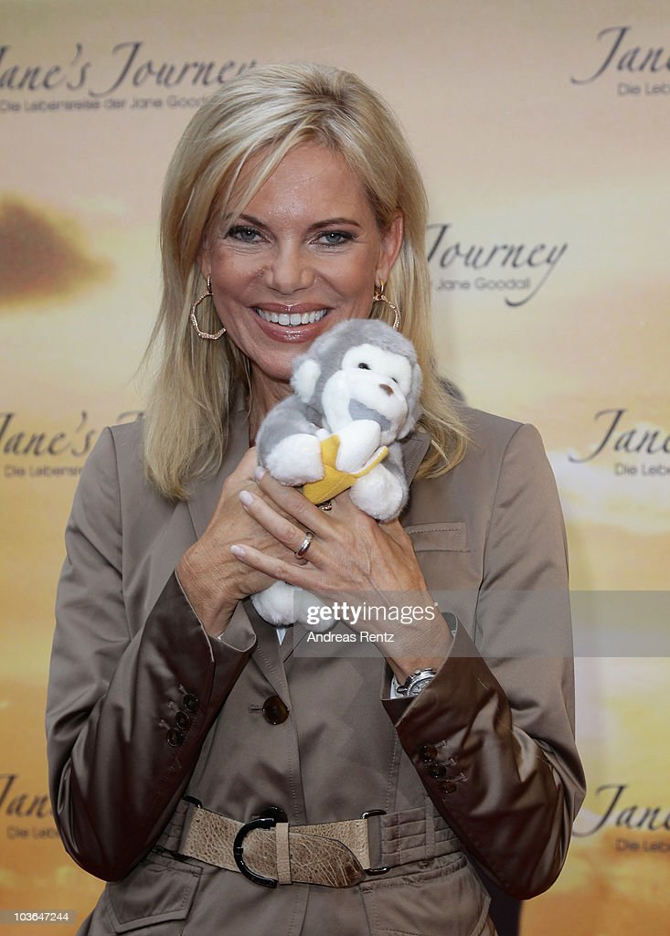 Nina Ruge attends Jane's Journey (Die Lebensreise der Jane Goodall) Germany premiere at Astor Film Lounge on August 26, 2010 in Berlin, Germany.