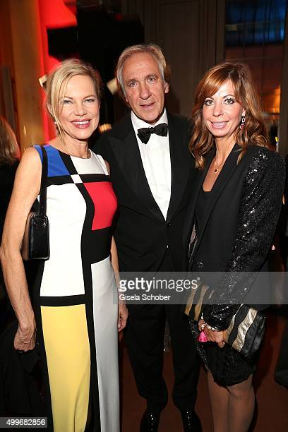 Nina Ruge, Christoph Gottschalk, brother of Thomas Gottschalk, and his wife Cornelia Gottschalk the Audi Generation Award 2015 at Hotel Bayerischer...
