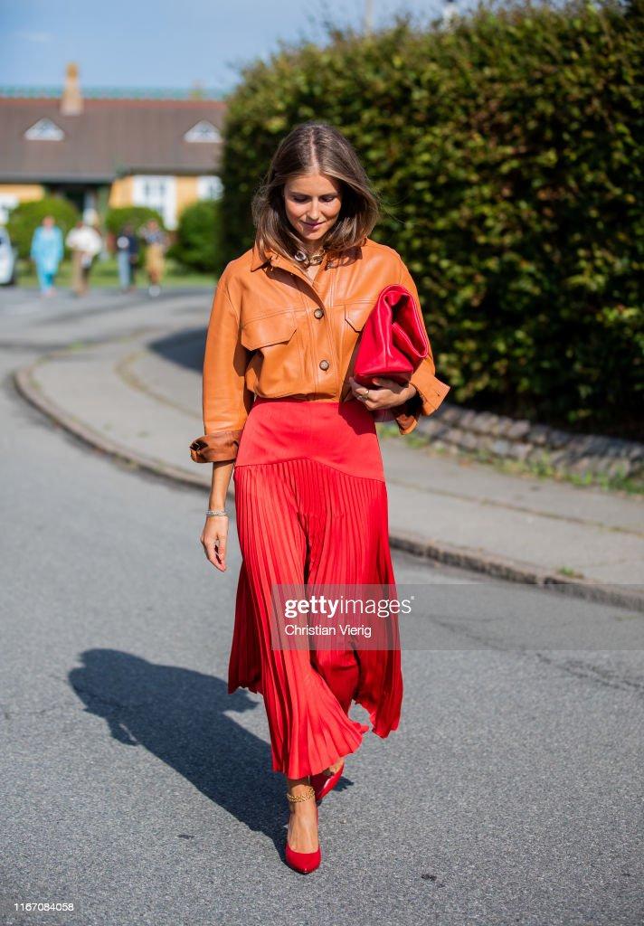 Street Style - Day 3 - Copenhagen Fashion Week Spring/Summer 2020 : ニュース写真