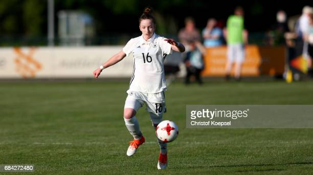 Nina Schumacher of Germany runs with the ball during the U15 girl's international friendly match between Germany and Netherlands at Getraenke...