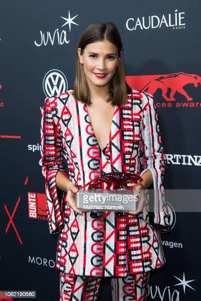 Nina Schwichtenberg attends the New Faces Award Style 2018 at Spindler Klatt on November 15 2018 in Berlin Germany
