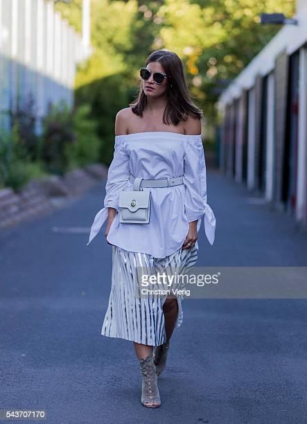 Nina Schwichtenberg during the MercedesBenz Fashion Week Berlin Spring/Summer 2017 on June 29 2016 in Berlin Germany