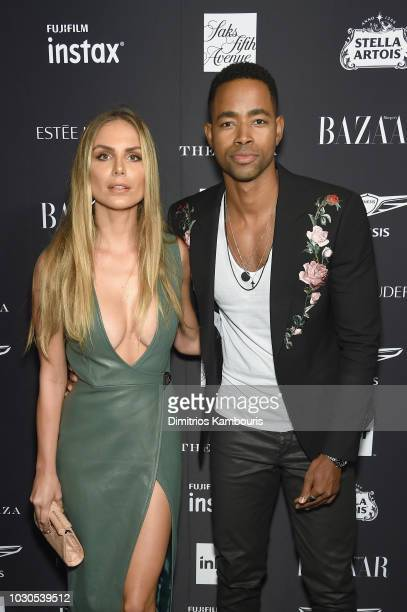 Nina Senicar and Jay Ellis attend as Harper's BAZAAR Celebrates ICONS By Carine Roitfeld at the Plaza Hotel on September 7 2018 in New York City