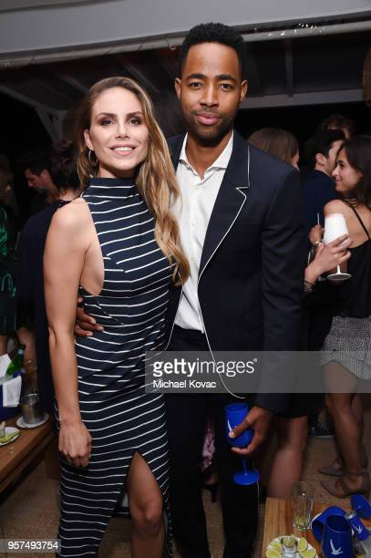 Nina Senicar and Jay Ellis attend Grey Goose Vodka Hosts Exclusive Late Night Soiree To Celebrate Iconic Moments In Film at Nikki Beach on May 11...