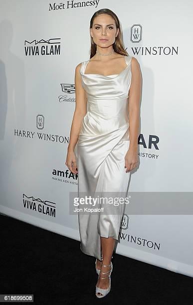 Nina Senicar arrives at amfAR's Inspiration Gala Los Angeles at Milk Studios on October 27 2016 in Hollywood California