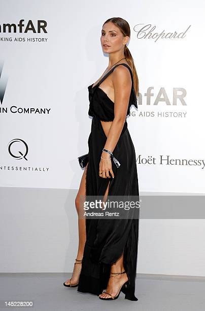 Nina Senicar arrives at the 2012 amfAR's Cinema Against AIDS during the 65th Annual Cannes Film Festival at Hotel Du Cap on May 24 2012 in Cap...