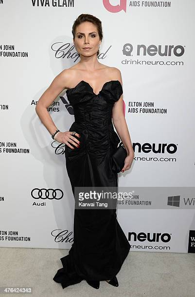 Nina Senicar arrives for the 22nd Annual Elton John AIDS Foundation's Oscar Viewing Party held at West Hollywood Park on March 2 2014 in West...