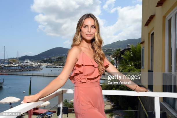 Umberto Smaila and Fanny Minati attend 2018 Ischia Global Film Music Fest on July 17 2018 in Ischia Italy