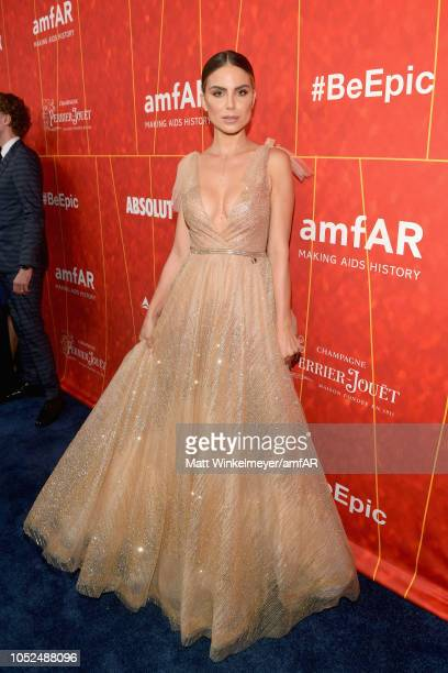 Nina Senicar attends the amfAR Gala Los Angeles 2018 at Wallis Annenberg Center for the Performing Arts on October 18 2018 in Beverly Hills California