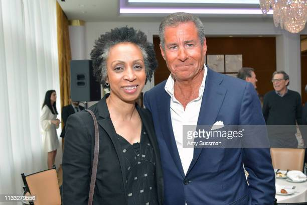 Nina Shaw and Richard Plepler attend The Hollywood Reporter Power Lawyers Breakfast 2019 at Waldorf Astoria Beverly Hills on March 28 2019 in Beverly...