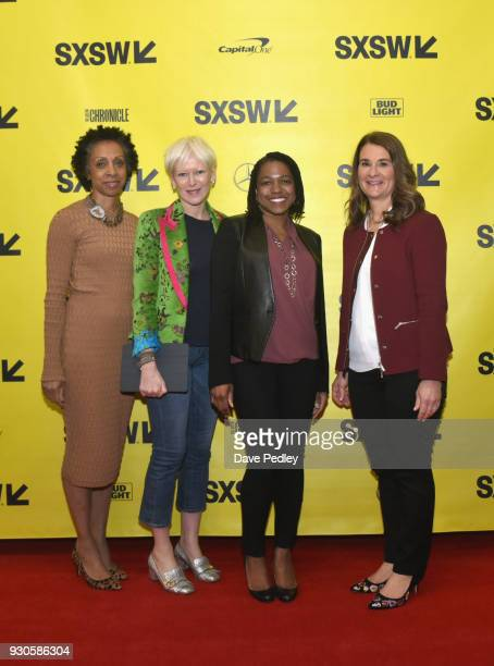Nina Shaw Joanna Coles Stacy BrownPhilpot and Melinda Gates attend the Interactive Keynote during SXSW at Austin Convention Center on March 11 2018...