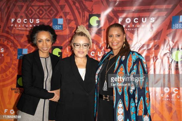 Nina Shaw Kasi Lemmons and Kim Ogletree attend the Greenlight Women For Black History Month Brunch Celebration at The London on February 17 2019 in...