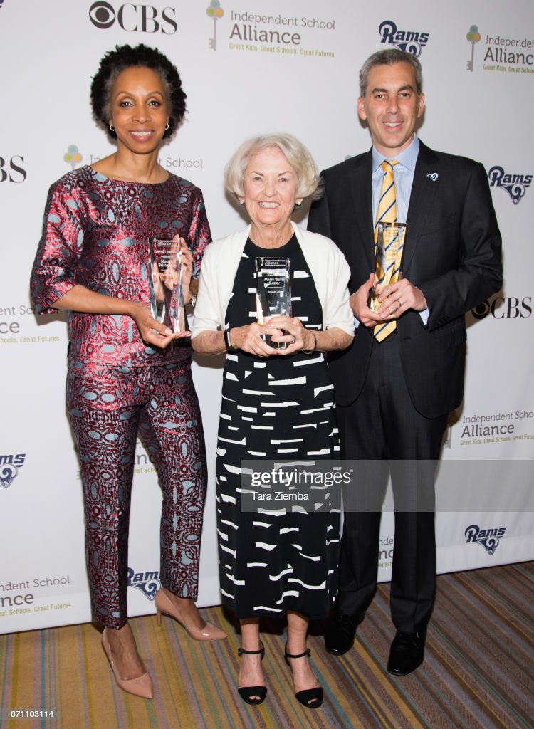 Nina Shaw, Mary Beth Barry and Kevin Demoff attend the Independent School Alliance Impact Awards at the Beverly Wilshire Four Seasons Hotel on April 20, 2017 in Beverly Hills, California.