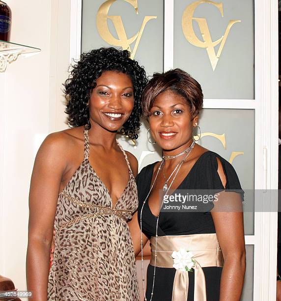 Nina Shay and Harriet Cole of Uptown Magazine during The House of Courvoisier Hosts The VIBE and Uptown Magazine Hurricane Katrina Fund Raiser at...