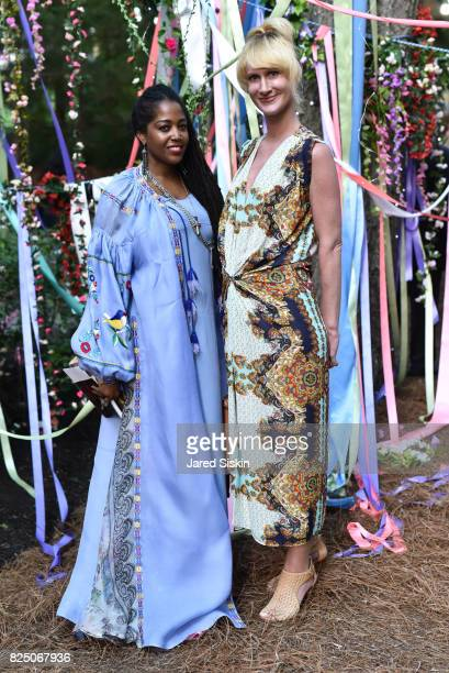 Nina Simone and Kharis Kennedy attend The 24th Annual Watermill Center Summer Benefit Auction at The Watermill Center on July 29 2017 in Water Mill...