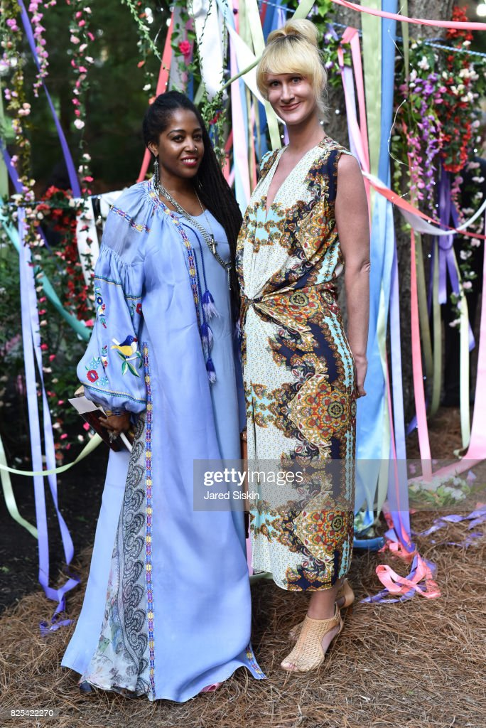 Nina Simone and Kharis Kennedy attend The 24th Annual Watermill Center Summer Benefit & Auction at The Watermill Center on July 29, 2017 in Water Mill, New York.