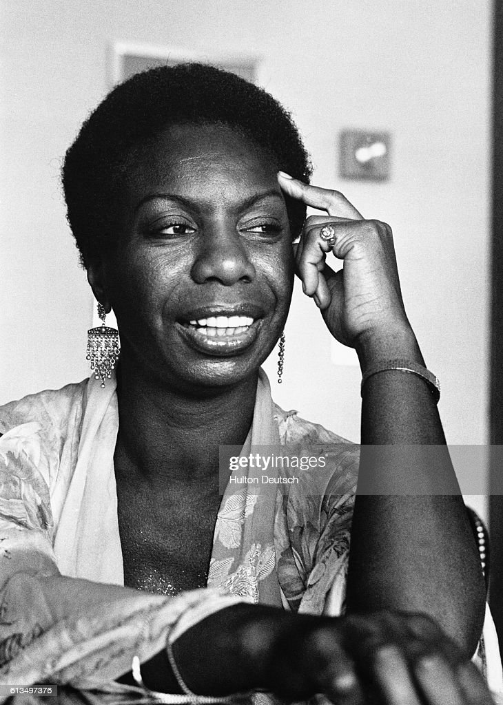 Nina Simone at the Penthouse in the Portman Hotel. Nina Simone, the American Jazz and Soul singer, at the Penthouse in the Portman Hotel in London, 1979.