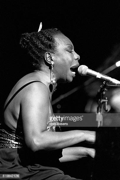 Nina Simone performing at the Beacon Theatre in New York City on May 1 1993