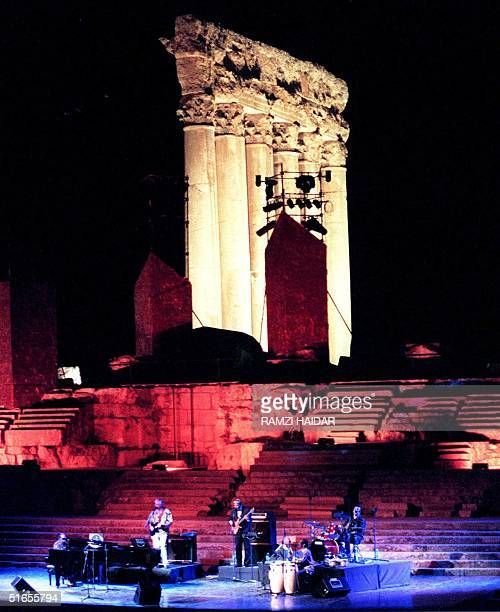 Nina Simone Pop and Jazz singer performs 08 August at Baalbeck Internantional festival in the ancient city of Baalbeck in east Lebanon In the back...